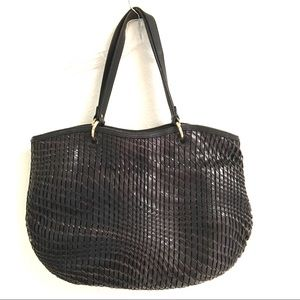 Cole Haan leather openweave tote/shoulder hobo bag